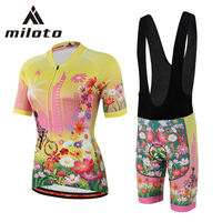 Miloto Cycling Jersey Sets Women Short Sleeve Team Cycling Clothing Breathable Customizable Mtb Bike Set Conjunto de ciclismo