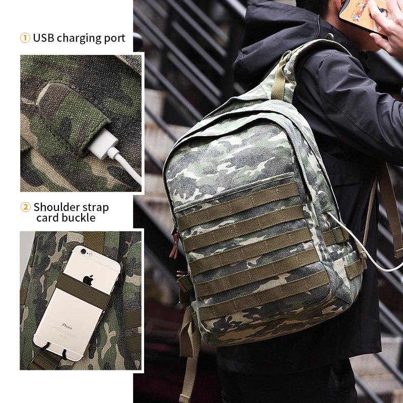 Muzee sac à dos pour ordinateur portable hommes avec USB sac à dos de charge grand sac de voyage hommes sac à dos de mode convient à 15.6 pouces - 3