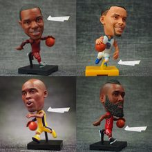 Soccerwe NBA Super Star Player Lovely Action Figure Basketball Model Toys Kids Sports Doll Kobe James Curry Harden Durant Wade(China)
