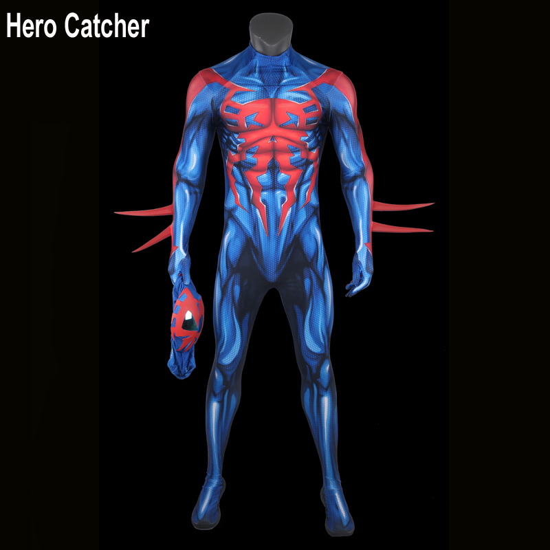Hero Catcher 4 High Quality Muscle Shade 2099 Spiderman Cosplay Costume With Mirror Lens 2099 Spiderman