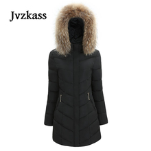 Jvzkass 2018 New long-sleeved cotton women Slim was thin fur collar thick warm coat fashion Korean wild tide Z99