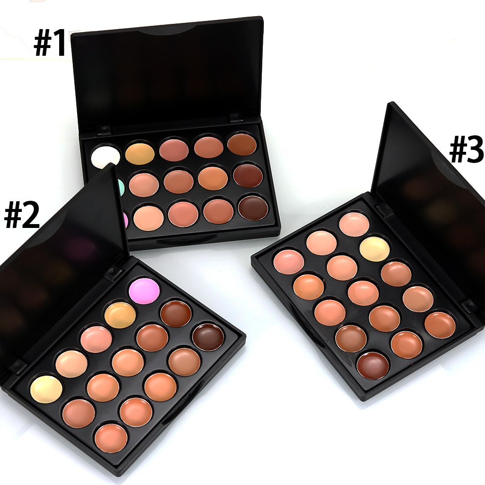 Pro Concealer Palette Contour Cream Kit 15 Colors Moisturizer Makeup