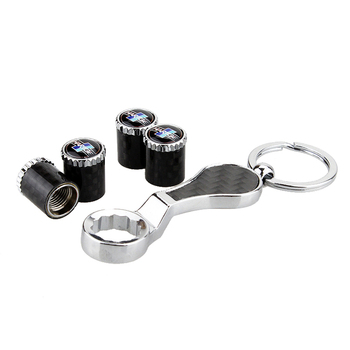 For Bmw Hartge X1 X3 X5 X6 M3 M5 X5 E70 E92 E46 E90 E60 E39 E36 F30 F10 E30 F20 Tire Valve Stem Caps with Keychain Car Styling image