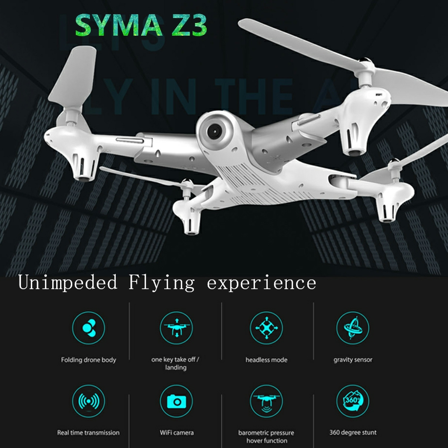 цена на Syma Z3 RC Quadcopter Foldable FPV with HD Wifi Camera Drone Real-time Altitude Hold Optical Positioning Flow drone vs x5c x8pro