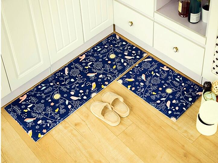 2pcs Set Bathroom Floor Mat Memory Foam Kitchen Doormat Soft Bedroom Living Room Carpet