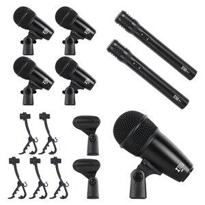 Image 4 - XTUGA NEWMI7 7 ชิ้นแบบใช้สายแบบไดนามิกกลองชุด (โลหะทั้งหมด) KICK Bass,TOM/Snare & Cymbals ชุดไมโครโฟนสำหรับกลอง,เสียง
