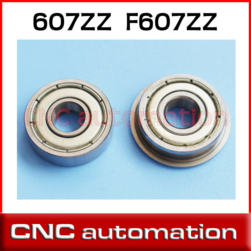 7x19x6mm Metric Metal FLANGE Ball Bearing 7*19*6 F607z 5pcs F607zz