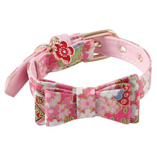 6779ed9cb 2019 New Design Pet Dog Adjustable Bowknot Collar With Bell Cat Puppy  Necklace dog accessories chien