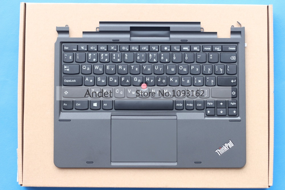 New Original RU Keyboard Bezel for Lenovo ThinkPad X1 Helix 1 Palmrest Upper Case Russian Keys gzeele new for lenovo thinkpad s1 yoga keyboard bezel palmrest cover with touchpad and connecting cable 00hm067 00hm068 black c