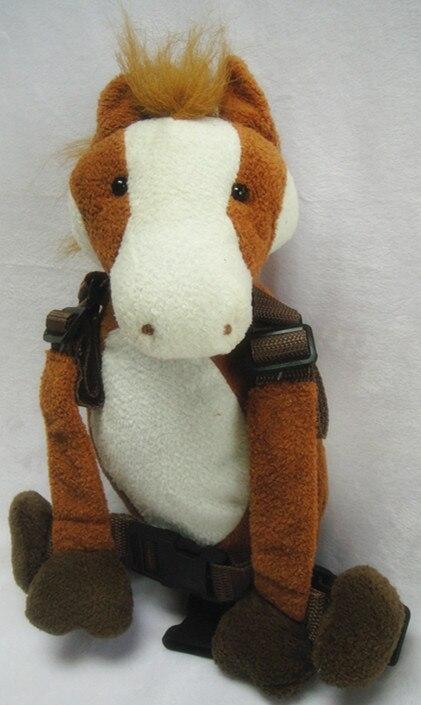 Приятель для того, чтобы держать 2-в-1 Детские накладной Рюкзак Детские поводья для От 1 до 3 лет вокруг - Цвет: horse