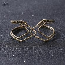 Badu 11.11 Pre-sale Vintage Punk Cuff Bangle Bracelets Women Fashion Jewelry Geometric Halloween Exaggerated Bracelet Wholesale недорого