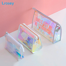 Laser Transparent Makeup Storage Organizers Bag Cosmetic Women s Handbags Fashion Portable travel PVC Bathroom Waterproof Bags