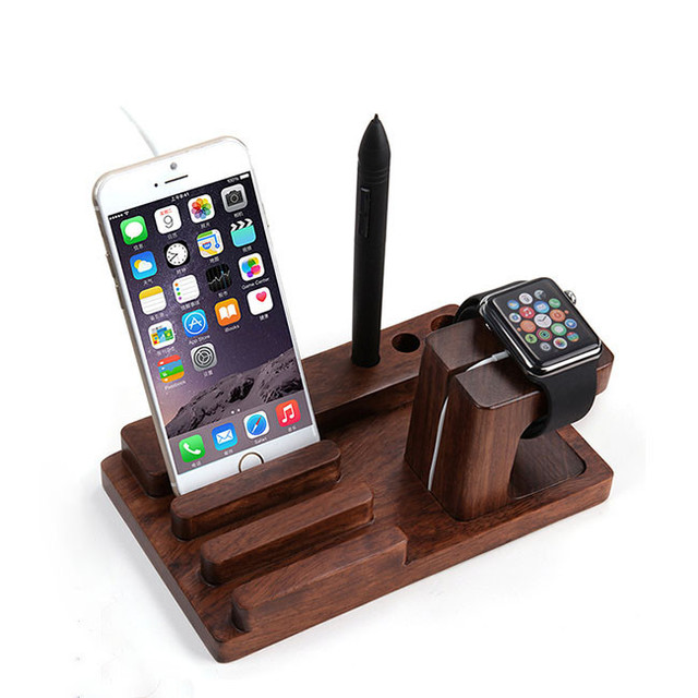 Bon Free Shipping Bamboo Design Multifunction Phone Stand Watches Holder  Universal For Car Office Desk Home Accessories
