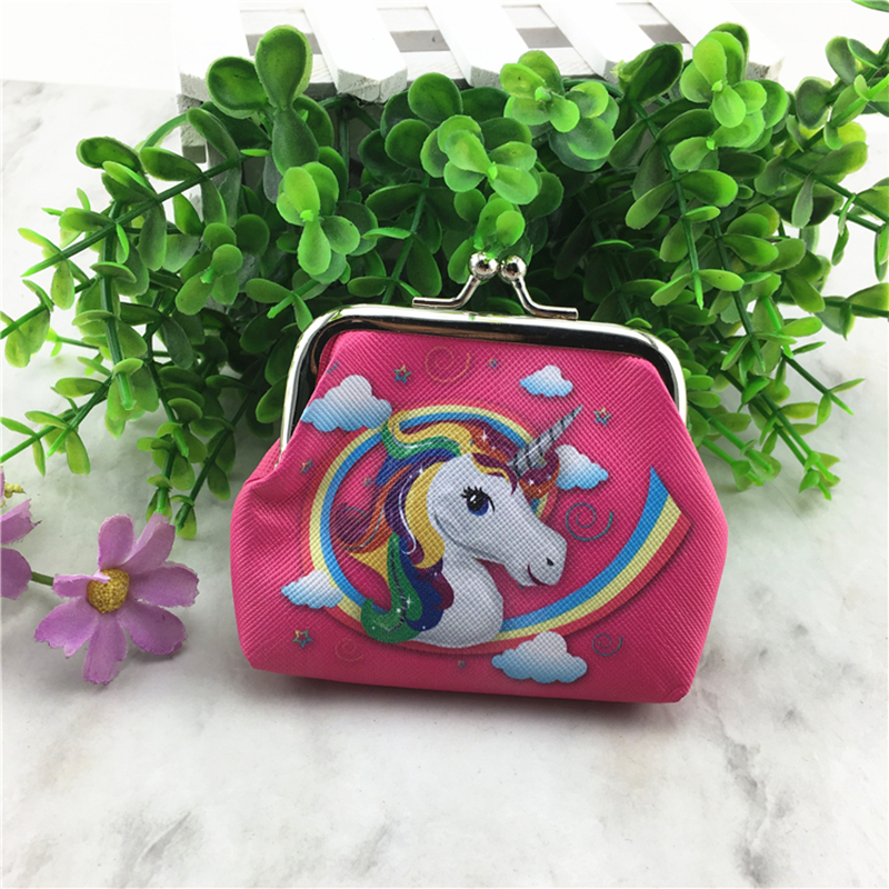 Fashion Unicorn Printed Coin Purse PU Leather Women Wallet Ladies Change Pouch Cute Mini Coin Bag New Arrival mara s dream new arrival small dot zero printed girl s coin purses wallet bag pouch brand lady mini wallet with metal buckle