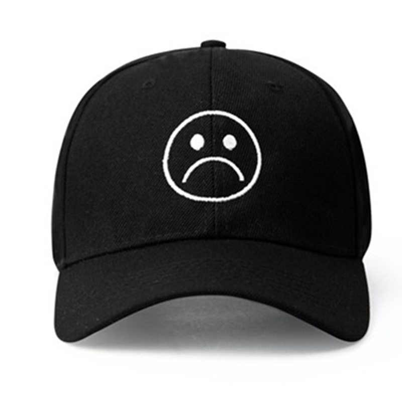 Sad Boys Adjustable Hat crying face Baseball cap Hip hop Headwear Black Harajuku Skateboard Hats Curve Brimmed golf Caps baby skullies boys caps headwear chapeau beanies