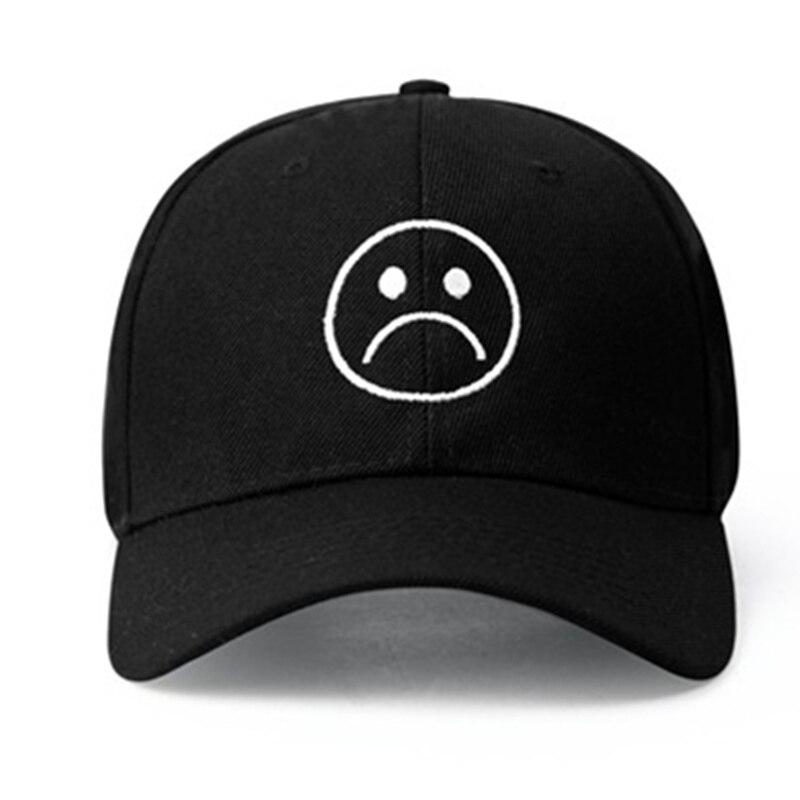 Sad Boys Adjustable Hat crying face   Baseball     cap   Hip hop Headwear Black Harajuku Skateboard Hats Curve Brimmed golf   Caps