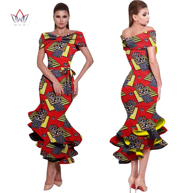 African Dresses For Women 2018 New Style Bazin Riche Fashion Party Dress Dashiki Sexy Plus Size