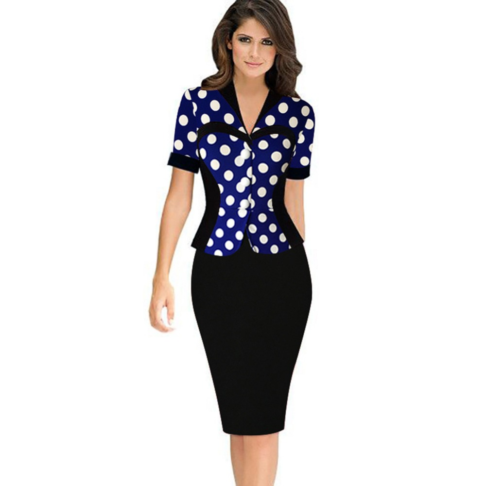 Online Buy Wholesale dress work wear one piece dress from China ...