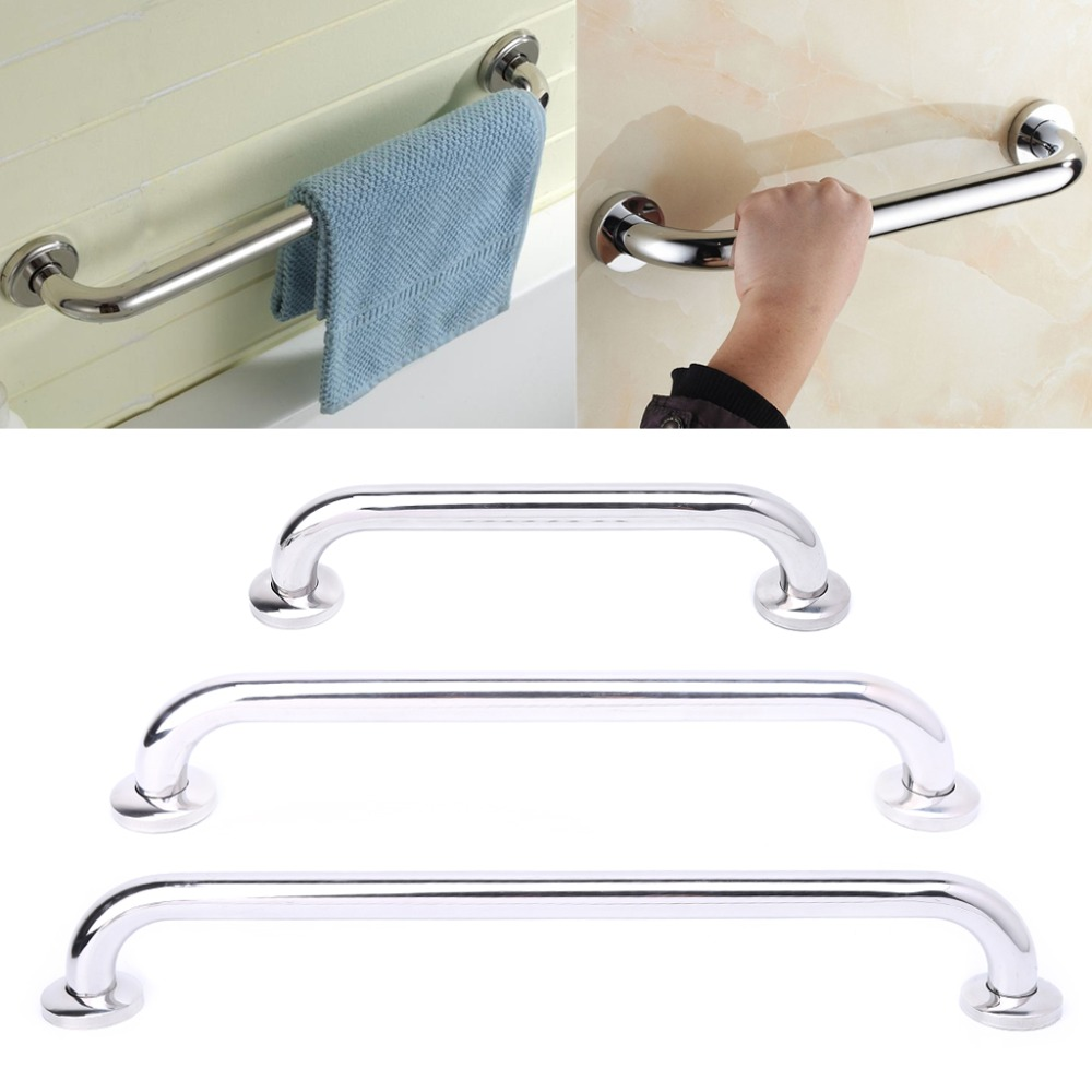 30/40/50cm Stainless Steel Bathroom Tub Handrail Grab Bar Shower Safety Support Handle Towel Rack M08