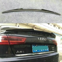 For Audi A6 C7 Spoiler 2012 2018 High Quality Carbon Fiber Rear Trunk Roof Spoiler Wing Car Styling