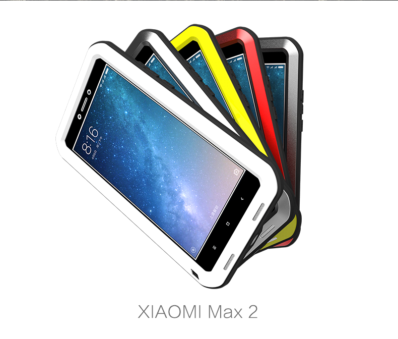 Waterproof case For Xaiomi Mi Max 2 Case Original Love Mei Metal Aluminum Powerful Case Mi Max2 Cover +Gorilla Glass Lovemei Waterproof case For Xaiomi Mi Max 2 Case Original Love Mei Metal Aluminum Powerful Case Mi Max2 Cover +Gorilla Glass Lovemei