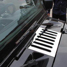 цена на Engine hood air flow intake vents grille sticker cover trim for jeep wrangler Bug Shields styling Accessories