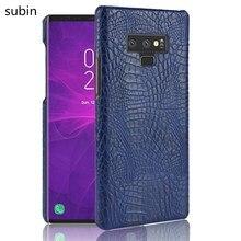 subin Leather Crocodile Pattern New arrival for Samsung galaxy Note 9 Note9 Case Retro Luxury Crocodile Skin Cover Phone Case
