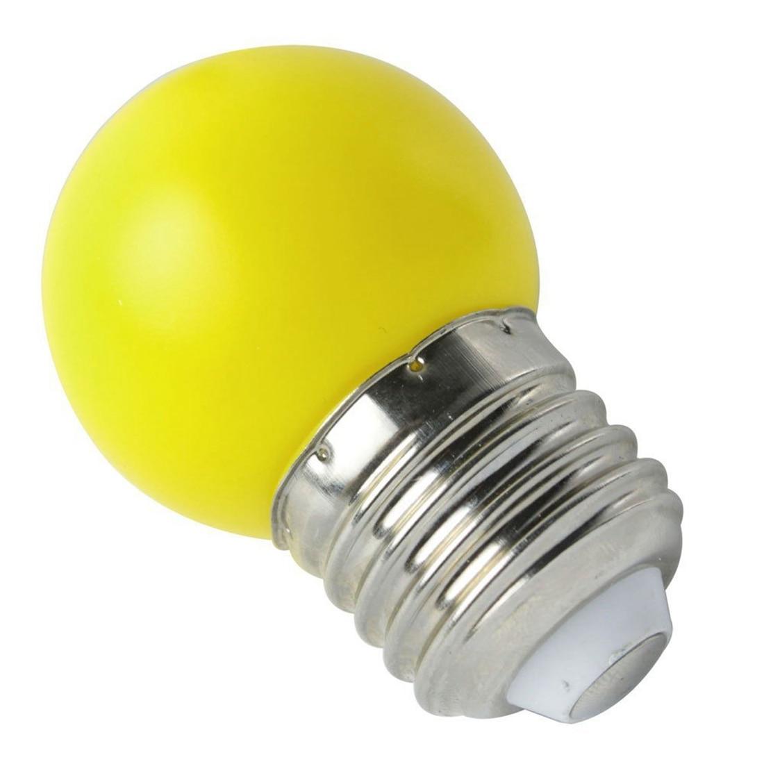 <font><b>E27</b></font> светодиодные теплый желтый шарик Пластик лампы (0.5 Вт власть, желтый)