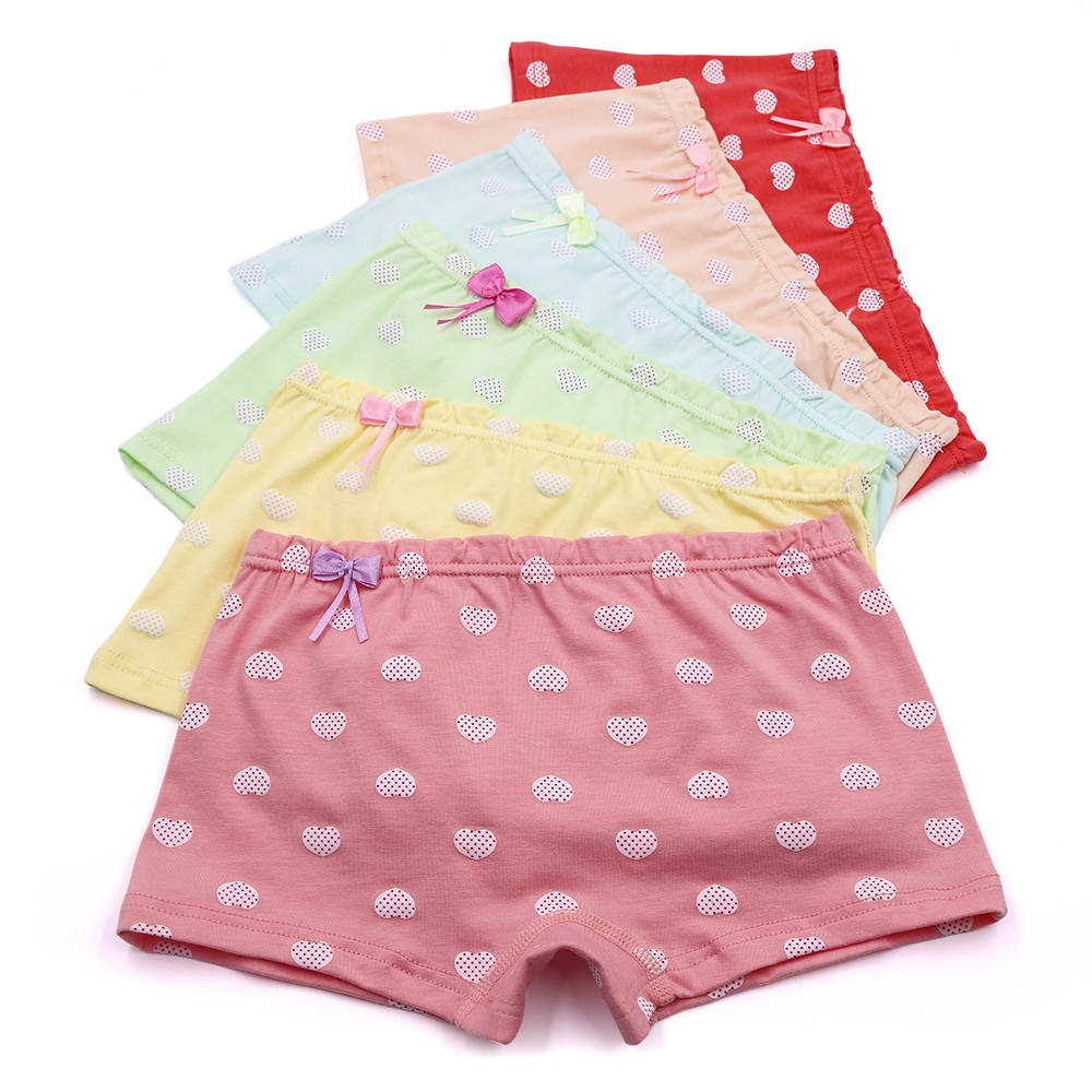 Girls 5 Pack of Briefs Kids Childrens Underwear Clothing