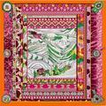 100% Silk Scarf Digital Printing Pilgrimage Potala Palace Ladies National Twill Silk 100cm Square Scarf Brand Luxury Shawl