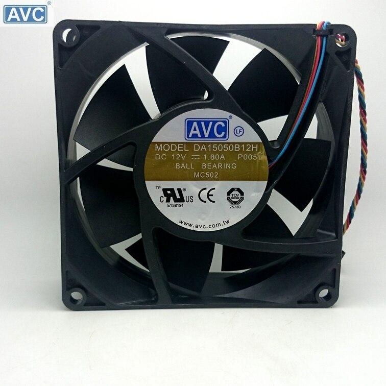 AVC DA15050B12H DC12V 1.80A 150*150*50MM 150mm 15cm powerful axial case pwm cooling fan игра yako кухня y9749007