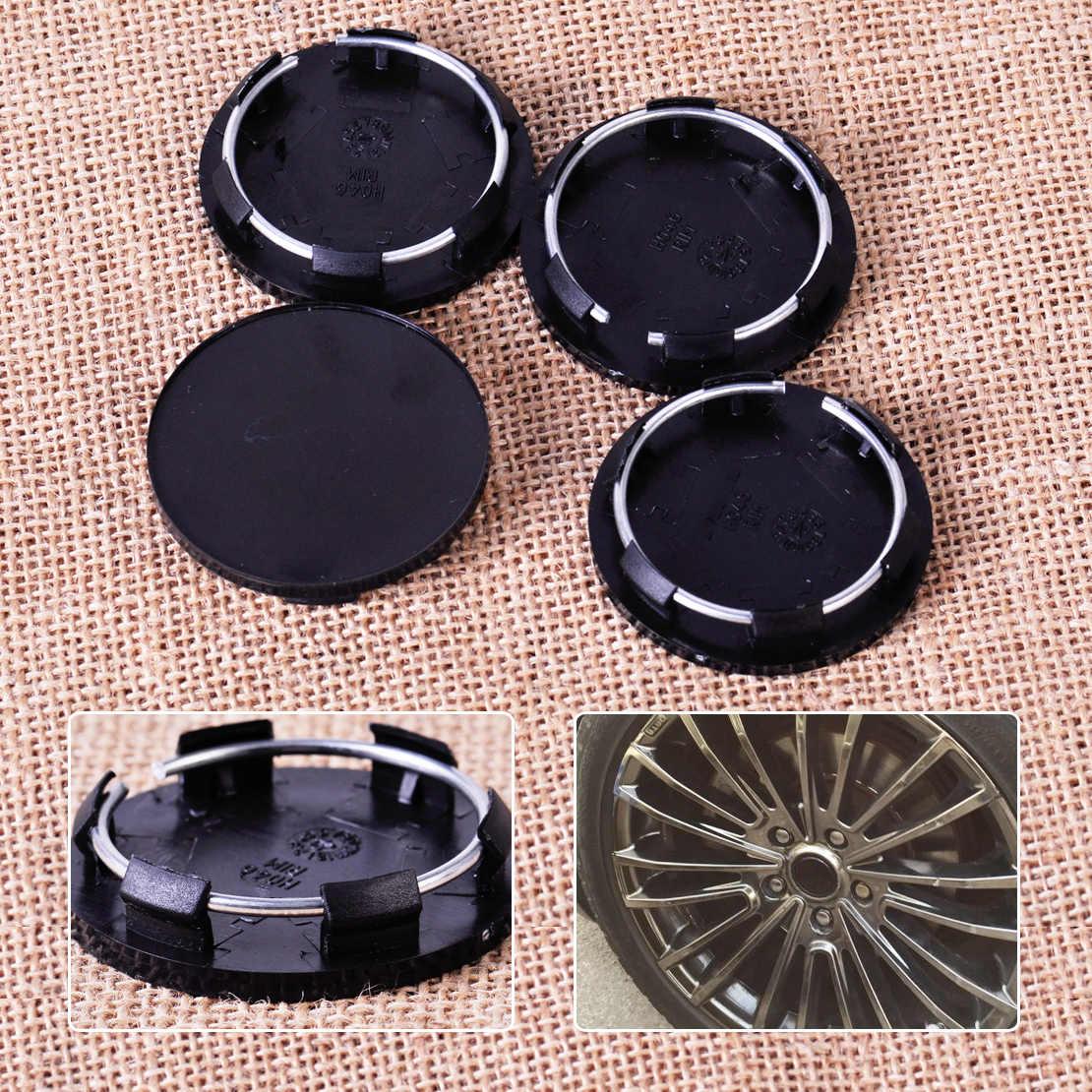 CITALL 4 pièces en plastique noir 50mm voiture camions véhicule roue Center jante moyeux couvre ensemble pneu pas d'insigne casquettes couvre garniture