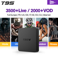 Set Top Box T95N Smart Android TV Box With Abaric Iptv Channels Subscription 1 Year IUDTV