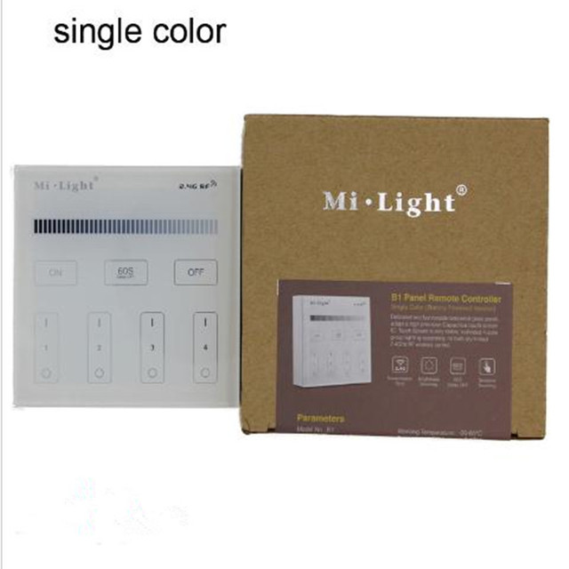 Mi Light T1 single color RF 4zones led iTouch glass Panel smart ...