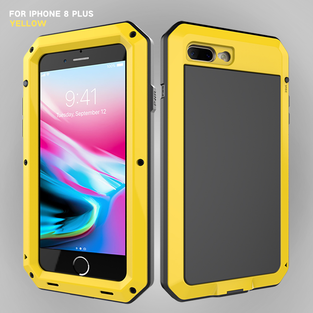 HTB1af66eStYBeNjSspaq6yOOFXaT Heavy Duty Protection Doom armor Metal Aluminum phone Case for iPhone 11 Pro Max XR XS MAX 6 6S 7 8 Plus X 5S 5 Shockproof Cover