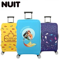 Suitcase Case Cover Fish Design 18 32'' Cover Travel Luggage Accessories For Men's For Suitcase Bags Women Waterproof Protection