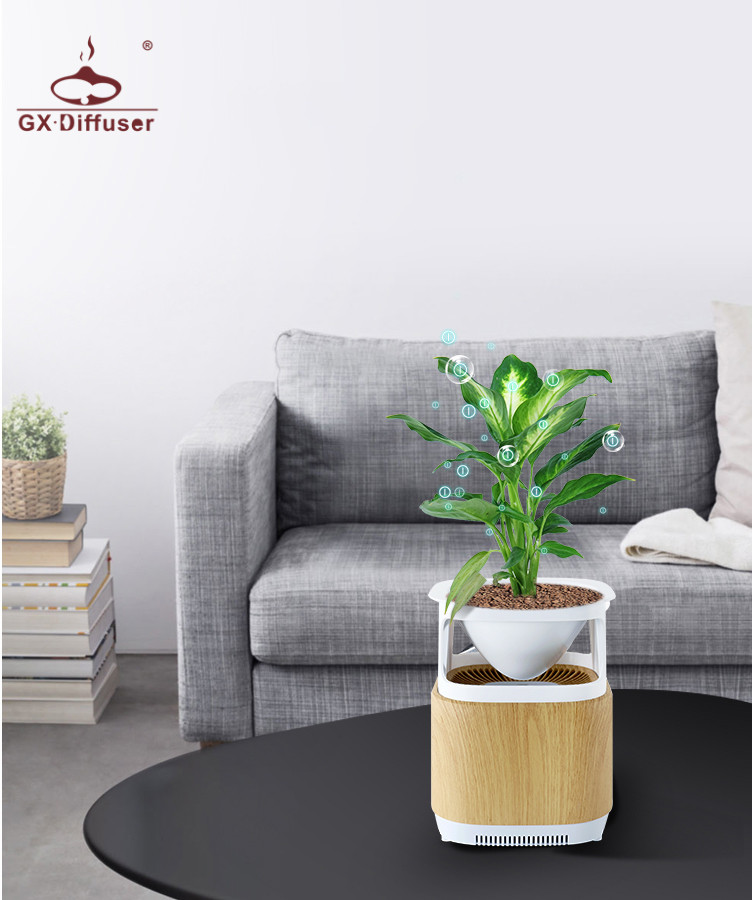 GX.Diffuser Air Purifier Negative Ions Air Cleaner Ionizer Air Freshener Remove Smoke Odor Bacteria Plant Room Air Purifier