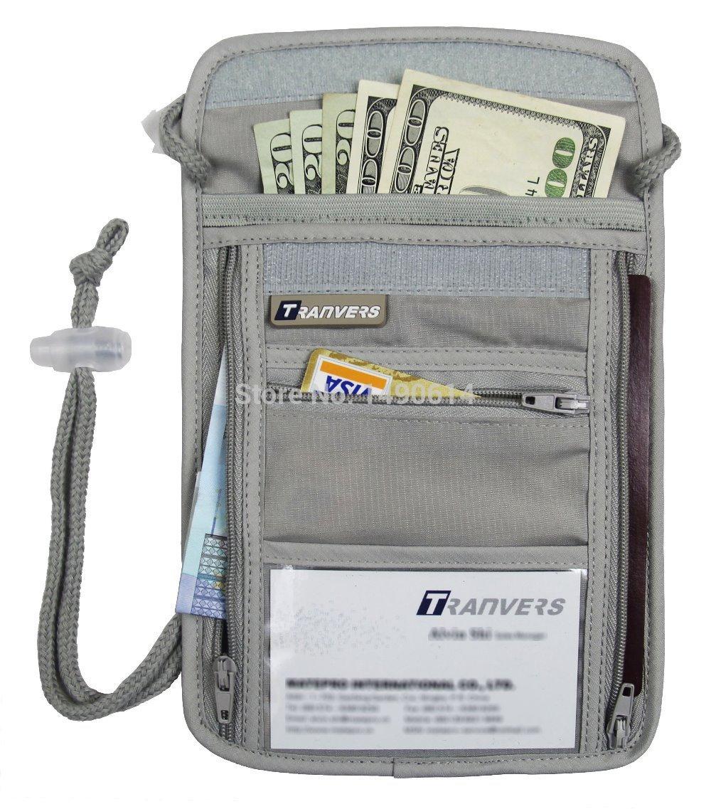 05b0f2d64b80 US $4.99  Travel Neck Wallet Undercover Security Neck Pouch Antitheft Safe  Bag Travel Wallet Women Passport Wallet Men Passport Holder Bag-in Bag ...