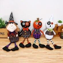 halloween props telescopic station pumpkin witch doll hotel desktop decoration halloween props popchina