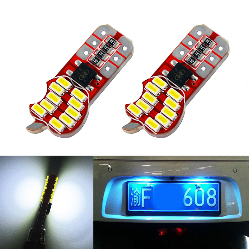 2x T10 W5W 168 192 Canbus LED Car License Plate Light For Nissan Juke Micra III (K12) Micra IV (K13) Note (E11)