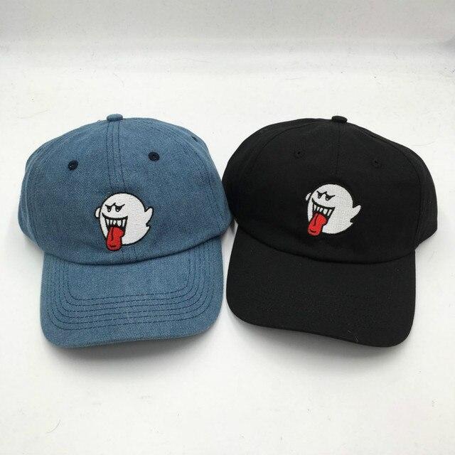 Hangi duş yetişkin unisex rahat ayarlanabilir beyzbol şapkası kadın erkek dikişli hayalet snapback denim şapka erkek rapçi baba şapkası