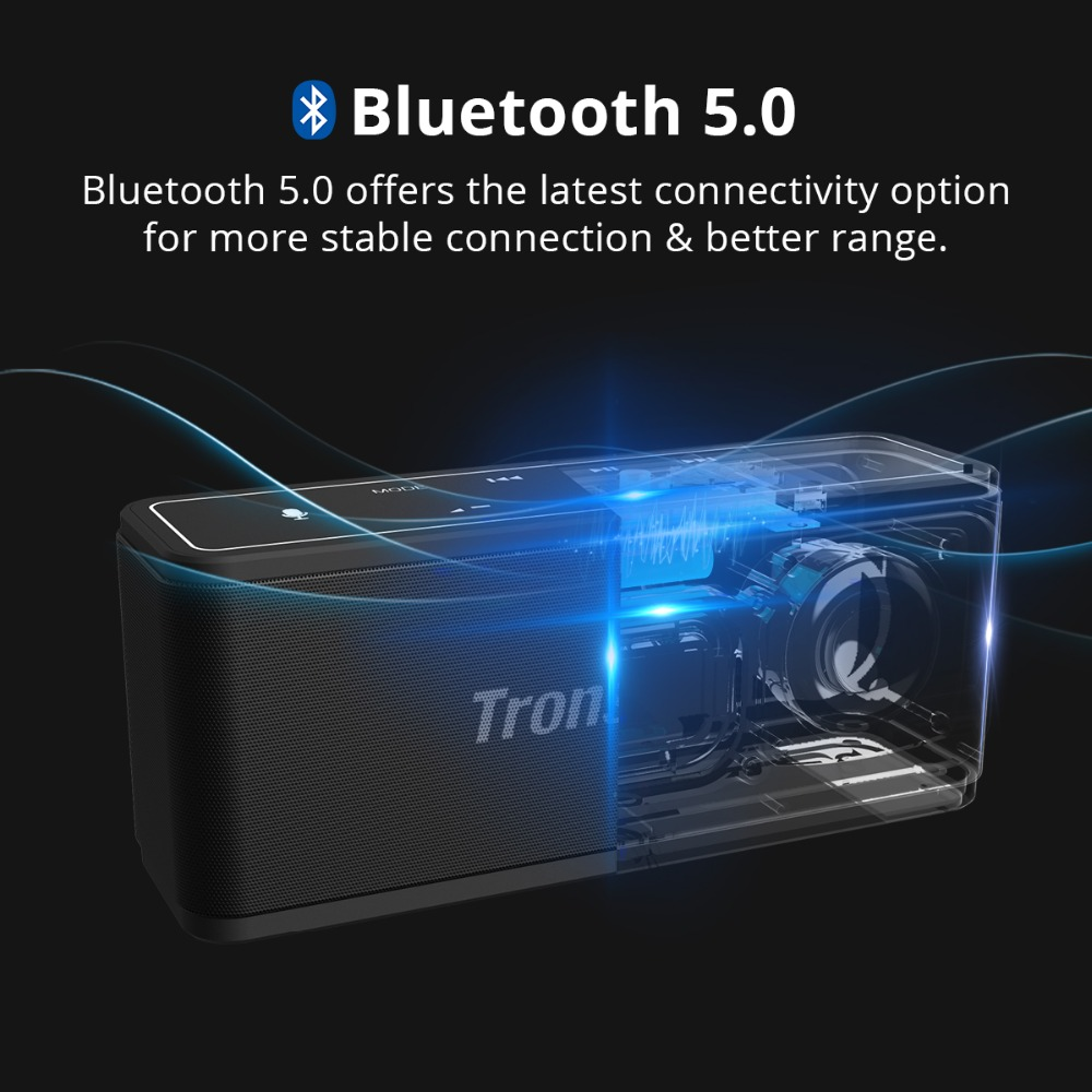 Tronsmart Mega Bluetooth 5.0 Speaker Voice Assistant Portable Speaker 40W Wireless Speaker Soundbar with TWS,NFC,MicroSD Card (10)