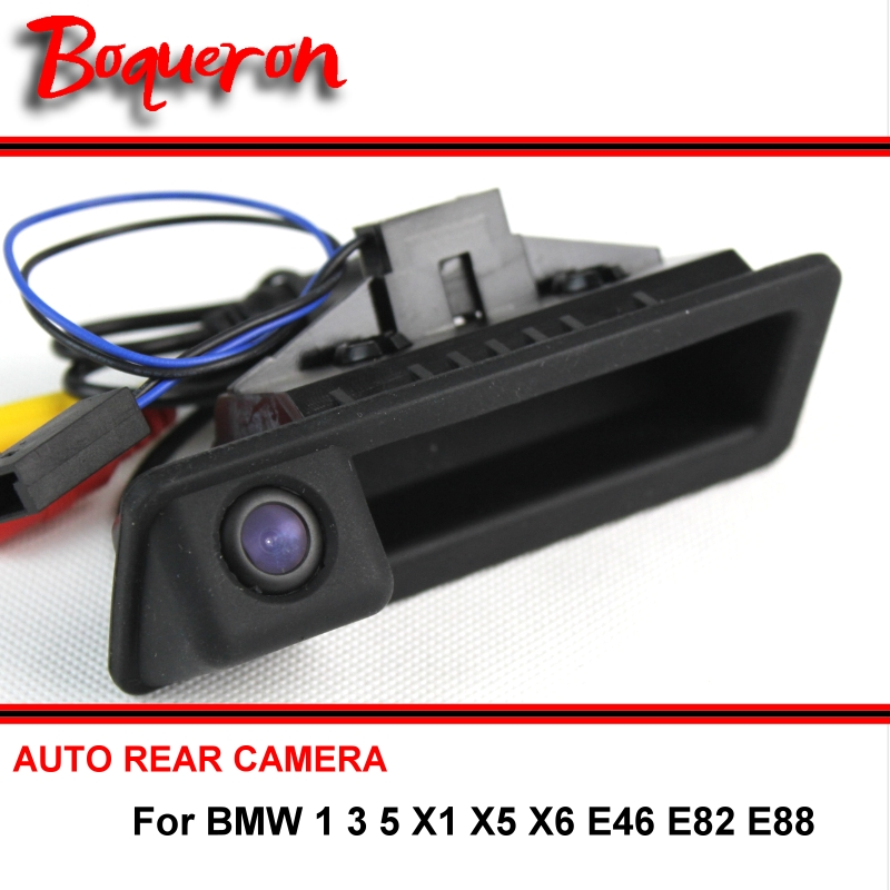 For BMW 1 3 5 X1 X5 X6 E46 E82 E88 Trunk Handle OEM Car Rear View Camera Reverse Camera HD CCD RCA NTST Back up Parking Camera стоимость