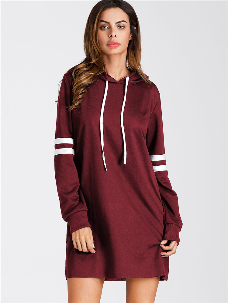 Women's Fashion Hooded Long-sleeved Casual Personality College Wind Color Color Wild