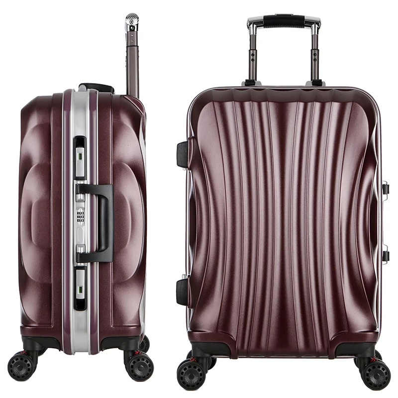 "Frauen Reisen Gepäck Roll Koffer, Wasserdichte PC Aluminium rahmen Box mit Rädern, männer 20 ""22"" 24 ""26"" zoll Shell form trolley"