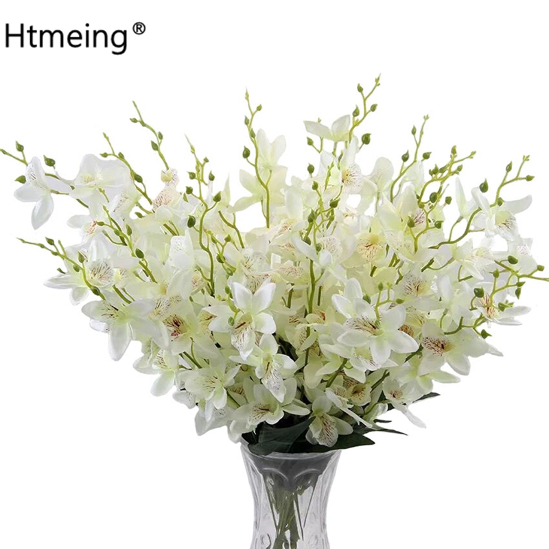 flower decoration for wedding reception.htm htmeing 23 6 inch artificial gladiolus orchids natural silk fake  gladiolus orchids natural silk