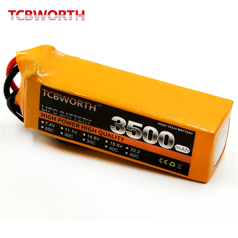 TCBWORTH Batteries 22.2V 3500mAh 35C 6S RC Toys LiPo Battery For RC Airplane Drone Car Boat Tank Batteries LiPo 6S RC Parts XT60 AS150 AKKU
