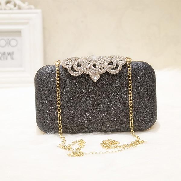 New fashion Sequined Scrub Clutch Women's Evening Bags Bling Day Clutches Gold Wedding Purse Female Handbag 11