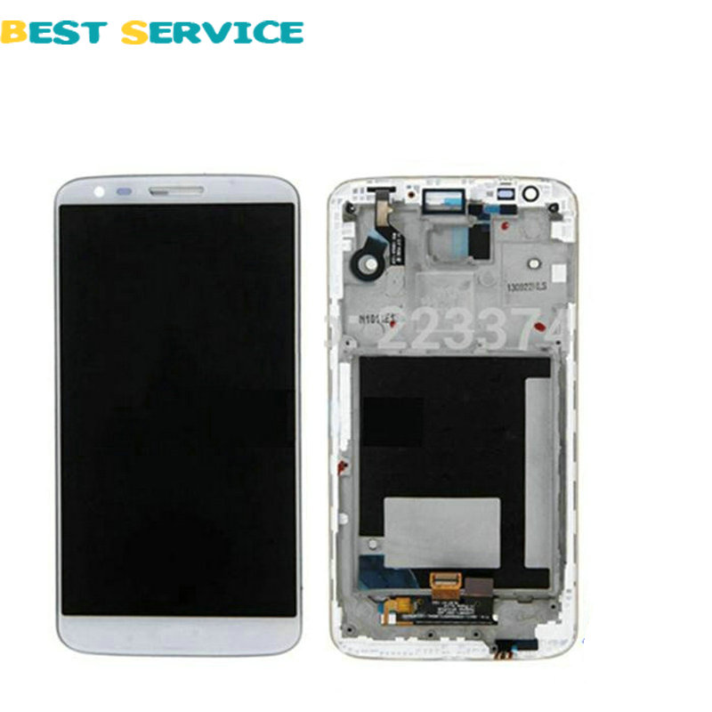 10Pcs/Lots For LG Optimus G2 D802 LCD Display + Touch Screen Digitizer Assembly With Frame Black White Colors Free Shipping 10pcs lots for lg d820 d821 lcd screen display touch screen digitizer with frame assembly black free shipping