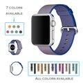 Urvoi band para apple watch série 1 2 tecido de nylon cinta para iwatch tecido-como a sensação de pulso padrão colorido com clássico fivela